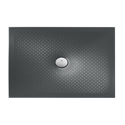 Roca In Floor Anti-Slip Rectangular Shower Tray - 1200mm x 800mm - Matt Black